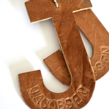 Leather Monogram Luggage Tags
