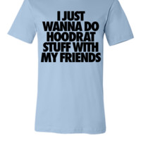 I Just Wanna Do Hoodrat Stuff With My Friends - Unisex T-shirt