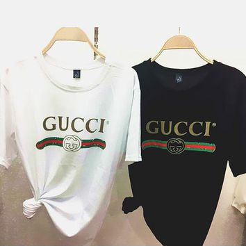 GUCCI Fashion Short Sleeve T-shirts Top Tee Loose Blouse