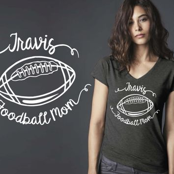 Football Mom Personalized T-shirt