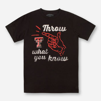 Throw What You Know Texas Tech Black T-Shirt