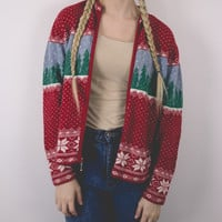 Vintage Winter Cardigan Christmas Sweater