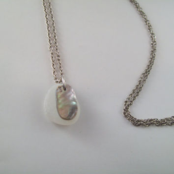 Abalone and Sea Glass Necklace