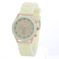 Sweet Candy Color Silicone Bracelet Watch