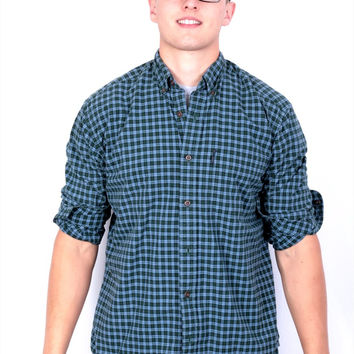 Abercrombie & Fitch Mens XL Casual Shirt Checkered Cotton 4006