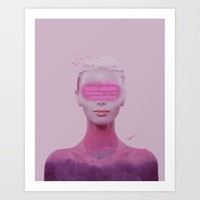 Surreal woman Art Print by vivianagonzlez
