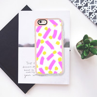 Purple strokes & dots - Brightly Spring iPhone 6s case by Allyson Johnson | Casetify