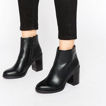 RAID Lisa Mid Heeled Ankle Boots at asos.com