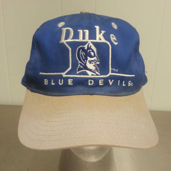 Vintage 90 s Duke University Blue Devils Snapback Dad Hat NCAA College  Basketball Made By Twins 1565ab0c1738
