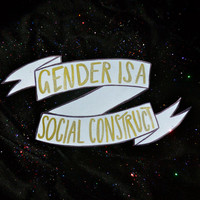 gender is a social construct - banner sticker
