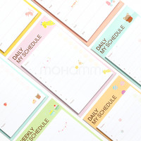 Desk Weekly Daily Planner Cartoon Sticky Notes Stickers Diary Stamps Post It Paper Korean Stationery To Do List Office Supplies