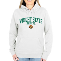 Wright State Raiders Ladies Team Arch Pullover Hoodie - White