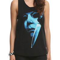 Halloween Film Slash-Back Sleeveless Girls T-Shirt | Hot Topic