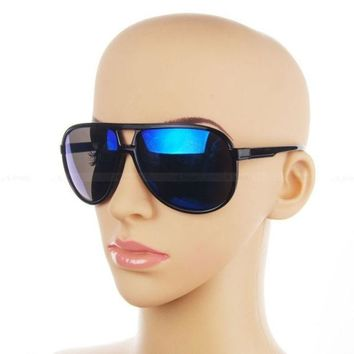 LMFUG3 Classic Retro Sunglasses 70s Vintage Mens Womens Shade Pilot Cop Glasses (Color: Black) = 1945964612
