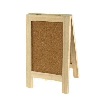 Mini Chalkboard Wood Cork Easel, Rectangle, 7-1/2-inch