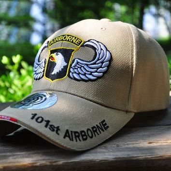 Sports Hat Cap trendy  NEW Baseball Cap Men Women Snapback Fitted Air Force US 101 Airborne Golf  Cap Outdoors Travel Trucker Hats C1159 KO_16_1
