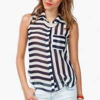 Stripe Black and White Shirt - Diva Hot Couture