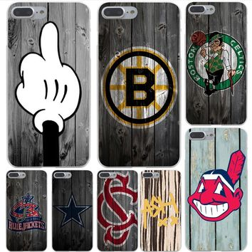 Lavaza Dallas Cowboys Wood Hard Case Shell for Apple iPhone 6 6s 7 8 Plus 4 4S 5 5S SE 5C for iPhone XS Max XR Cases