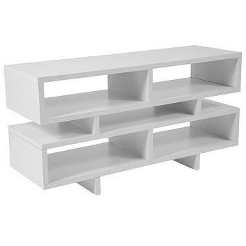 Modern White Wood TV Stand and Media Console