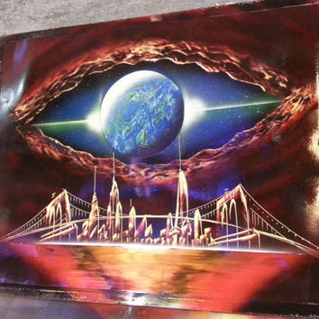 EYE OF GOD - Spray Paint Art - (22 in x 28 in) Space Painting