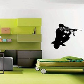 Soldier Killer Assasin Hitman Wall Art Sticker Decal Ar443