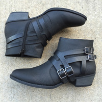 Bad Girl Buckle Booties