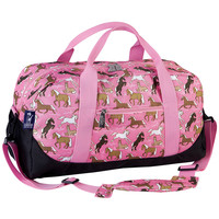 Horses in Pink Duffel Bag - 25020