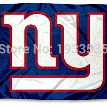New York Giants  NY Large Logo Outdoor Flag 3' x 5'  Fan Flag Banner brass metal holes Flag