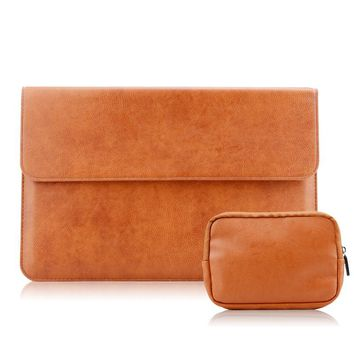 PU Leather Laptop Sleeve Bag for New Macbook 2016 Pro 13 Touch Bar & No Touch Bar Laptop Cover for Macbook Pro 13 A1706 A1708