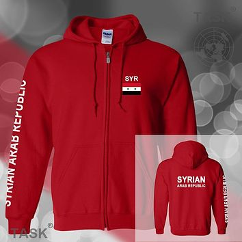 Syria Syrian Arab mens hoodies and sweatshirt jerseys polo sweat new streetwear tracksuit nation fleece zipper flag SYR SY 2017