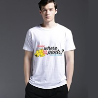 Casual Tee Men's Fashion Cotton Pattern Alphabet Short Sleeve Summer T-shirts = 6450520259
