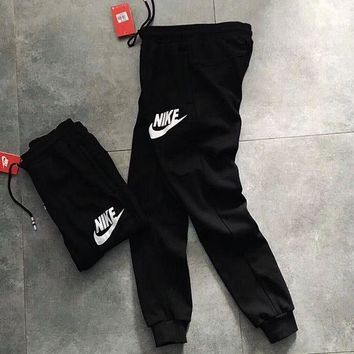Nike Woman Men Black Sports Casual Trousers Pants