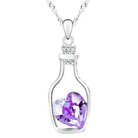 ON SALE - Bottled Up Love IOBI Crystals Necklace in Amethyst