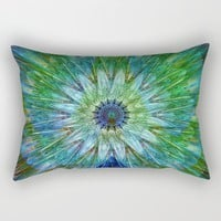 Beautiful as a peacock Rectangular Pillow by Jeanette Rietz