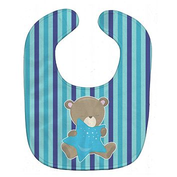 Baby Boy Bear with Star Baby Bib BB8614BIB