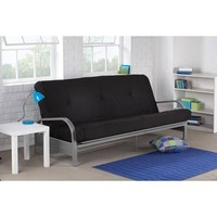 Mainstays Metal Arm Futon, Black - Walmart.com