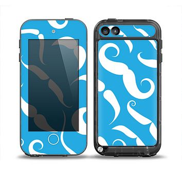 The White Mustaches with blue background Skin for the iPod Touch 5th Generation frē LifeProof Case