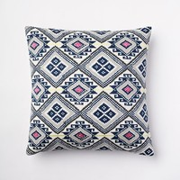 Thai Embroidered Diamond Pillow Cover