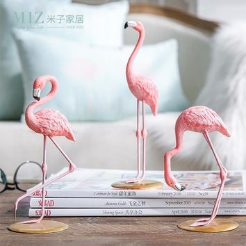 Pink Flamingo Home Decor Figure