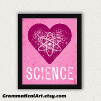 Science Geek Love 11x14 Print - Perfect Science Gift for Your Favorite Scientist, Chemist, Teacher, Friend