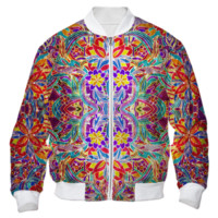Sparkling Gold Floral Bomber Jacket created by Blooming Vine Design   Print All Over Me