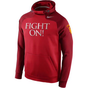 Nike USC Trojans Crimson Championship Drive Hyperspeed Therma-FIT Performance Hoodie