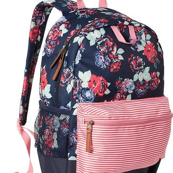 Old Navy Girls Patterned Backpacks Size One Size - Red floral
