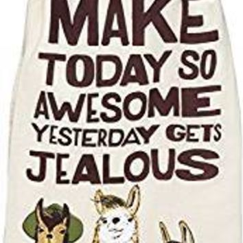 Make Today So Awesome Yesterday Gets Jealous LLama Dish Towel