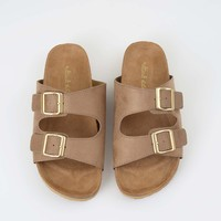 Altar'd State Double Band Slip on Sandals   Altar'd State