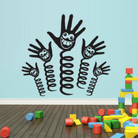 rvz1695 Wall Decal Vinyl Sticker Arms Hands Modern Fashion Decal Faces Nursery (