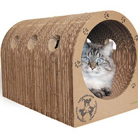 Original Catpods -  eco-friendly cardboard cat scratcher house
