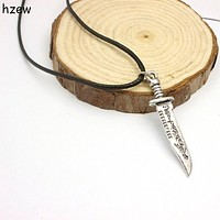 hzew Free shipping men jewelry supernatural kinfe letter necklace