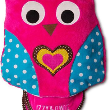 Pink Owl Blanket and Pillow