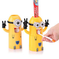 Minions Automatic Toothpaste Dispenser & Toothbrush Holder